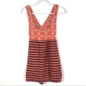 Free People Sleeveless Striped Top Wool Blend S